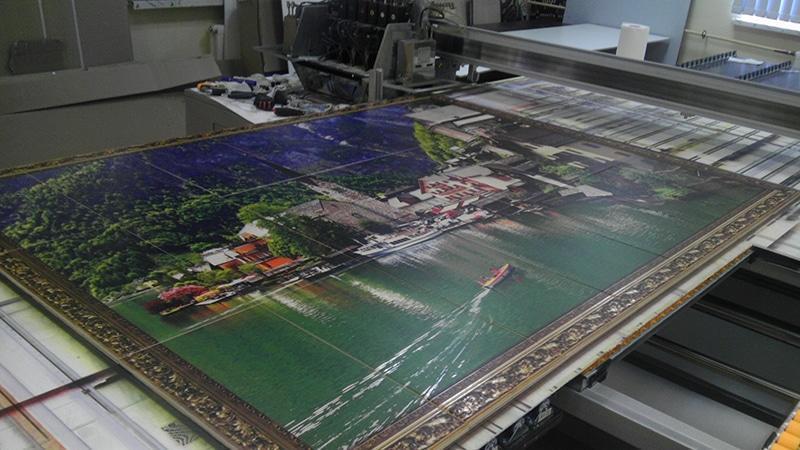 Производство в гараже: печать на плитке