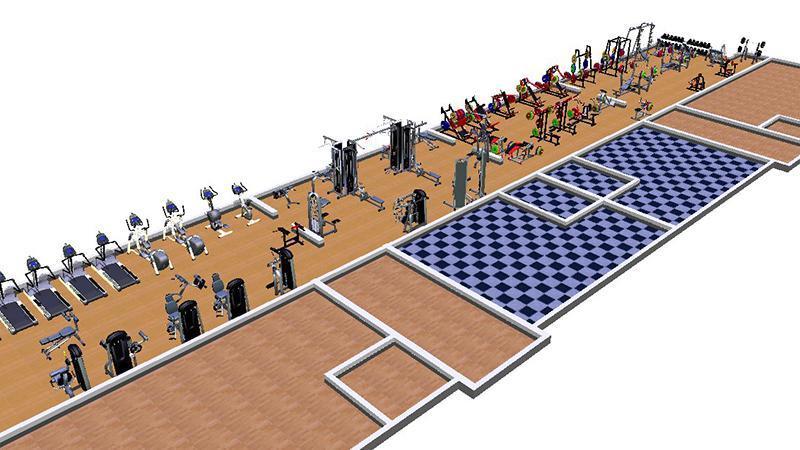 Помещение для открытия спортзала в маленьком городе