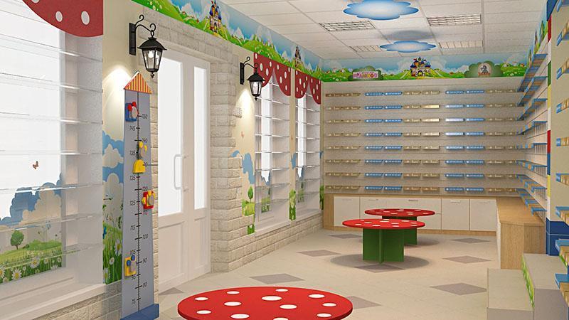 Торговое оборудование для магазина детской обуви