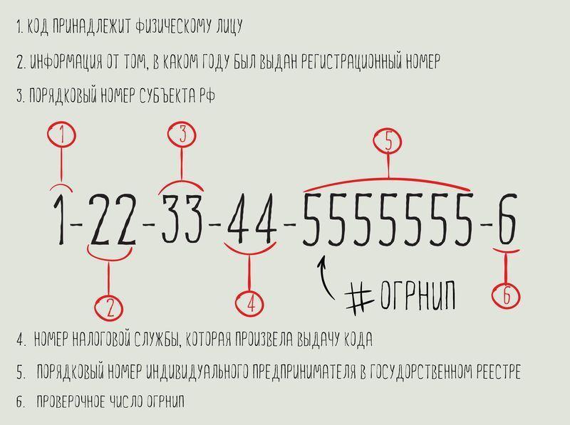 пример расшифровки ОГРНИП что это такое и где его взять