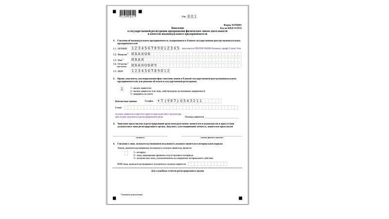 Форма Р26001 - бланк в exel