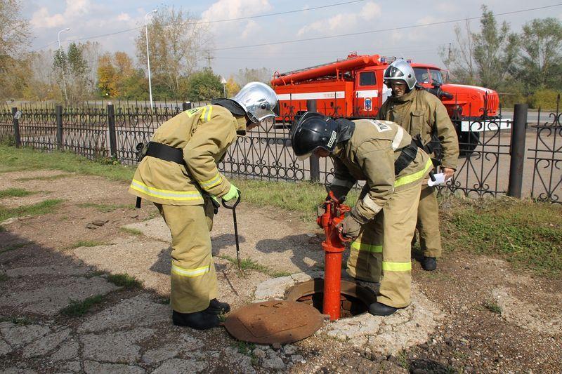 проверка работоспособности пожарных гидрантов с пуском воды производится не реже